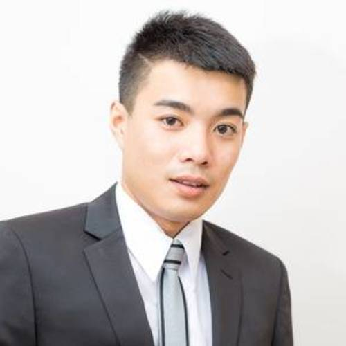 59761706 young good smart looking asian professional business man on a white background isolated